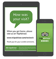 Our system is integrated with TripAdvisor and Review Express, collect more reviews easily.